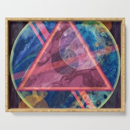 Mystic Astrology Geometry Serving Tray