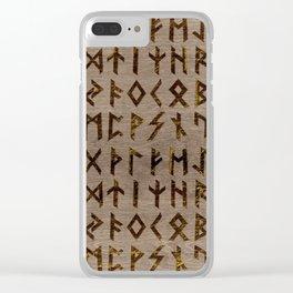 Ancient Celtic Runes  Alphabet pattern Clear iPhone Case