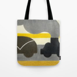 Smoking Piano Car Tote Bag