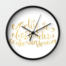 Don't Let the Bastards Grind You Down - Faux Gold Foil Wall Clock