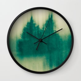 Winter Tree Abstract Wall Clock