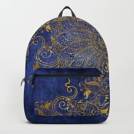 Blue velvet Backpack
