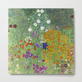 Flower Garden - Gustav Klimt Metal Print
