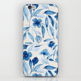 Prussian Floral iPhone Skin