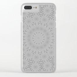 Shades of Grey Mandala Kaleidoscope A171B Clear iPhone Case