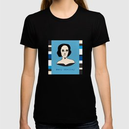 Mary Shelley, hand-drawn portrait T-shirt