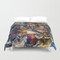 ganesh Duvet Covers featuring Fabulous Ganesh by CrypticFragments Design