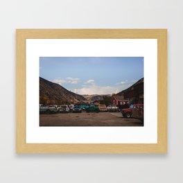 Auto Shop Framed Art Print