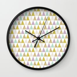 Graphic and Glitz in Cool Jewels Wall Clock