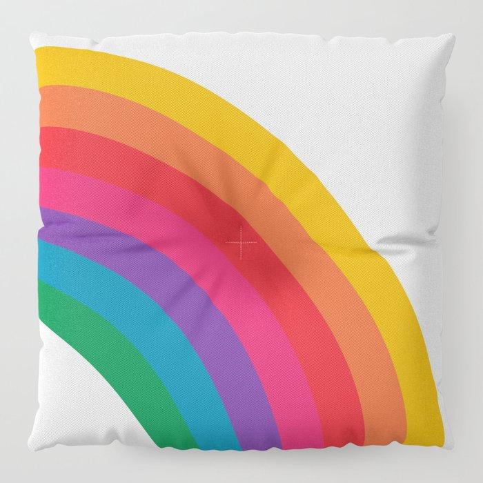 Retro Bright Rainbow - Right Side Floor Pillow