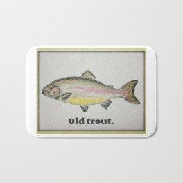 Old trout Bath Mat
