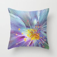 blossom Throw Pillows featuring Blossom by Klara Acel