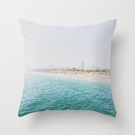 Santa Monica Beach MINT Throw Pillow