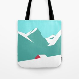icy mountain Tote Bag