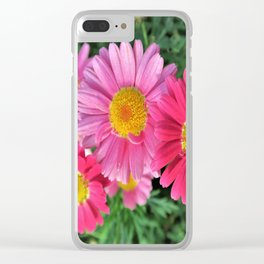pink daises Clear iPhone Case
