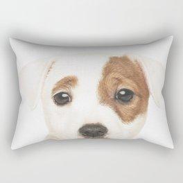 Jack Russell Puppy Rectangular Pillow