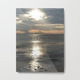 Sun Setting Over Spurn Point Metal Print