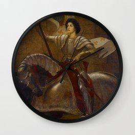 "Sir William Blake Richmond ""Joan of Arc"" Wall Clock"