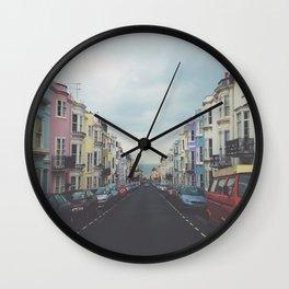 Brighton Houses Wall Clock