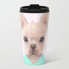 Portrait Of French Bull Dog Travel Mug