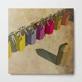 Pencil color dresses - Vestidos para lapices de colores Metal Print