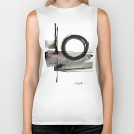 Enso Abstraction No. 112 by Kathy morton Stanion Biker Tank