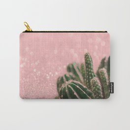 Cactus on Pink Sparkles Carry-All Pouch