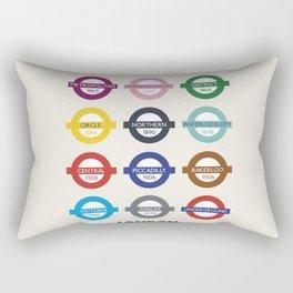 London underground poster, metro alphabet map, subway sign, the tube art Rectangular Pillow