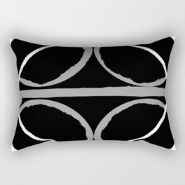Geometric Unity Centered in a Circle Rectangular Pillow
