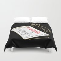 the 100 Duvet Covers featuring 100 by October's Very Own