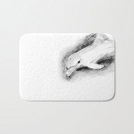 white dolphin Bath Mat