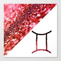 gemini Canvas Prints featuring Gemini by haroulita