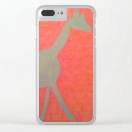 Giraffe Silhouette Clear iPhone Case