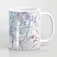 austin Mugs featuring Austin map by MapMapMaps.Watercolors