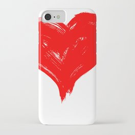 Red Heart painting iPhone Case