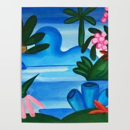 Classical Masterpiece 'The Lake' by Tarsila do Amaral Poster