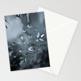 snowflake monochrome Stationery Cards