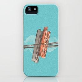 Boho Clothespin iPhone Case