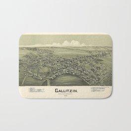 Aerial View of Gallitzin, Pennsylvania (1901) Bath Mat