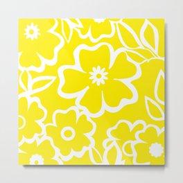 Yellow Flowers Fullfilled Metal Print