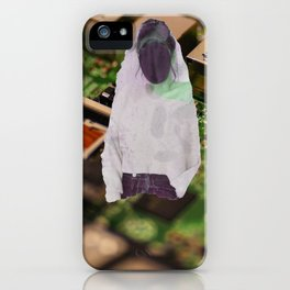 Three Women With Blacked Out Faces iPhone Case