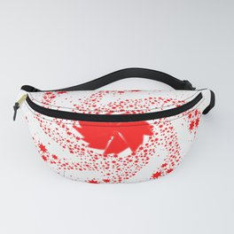 Red Pin Wheel Fanny Pack
