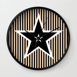 The Greatest Star! Black and Cream Wall Clock