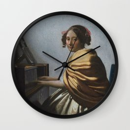 """Johannes Vermeer """"A Young Woman Seated at the Virginal"""" Wall Clock"""