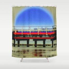 Blue Moon Shower Curtain
