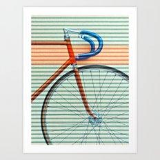 Standard Striped Bike Art Print