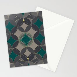 Oriental Circles Stationery Cards