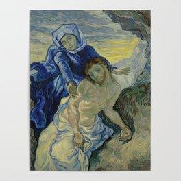 Pietà (after Delacroix) Poster