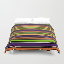 Modern colorful halloween October 31 abstract stripes Duvet Cover