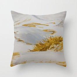 Winter Desert Throw Pillow